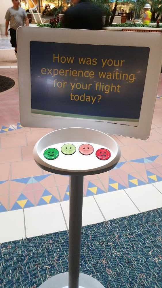 User Feedback machine from an airport