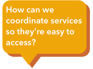 How do we get people to have coordinated, wrap-around services to solve their problems holistically and across systems?