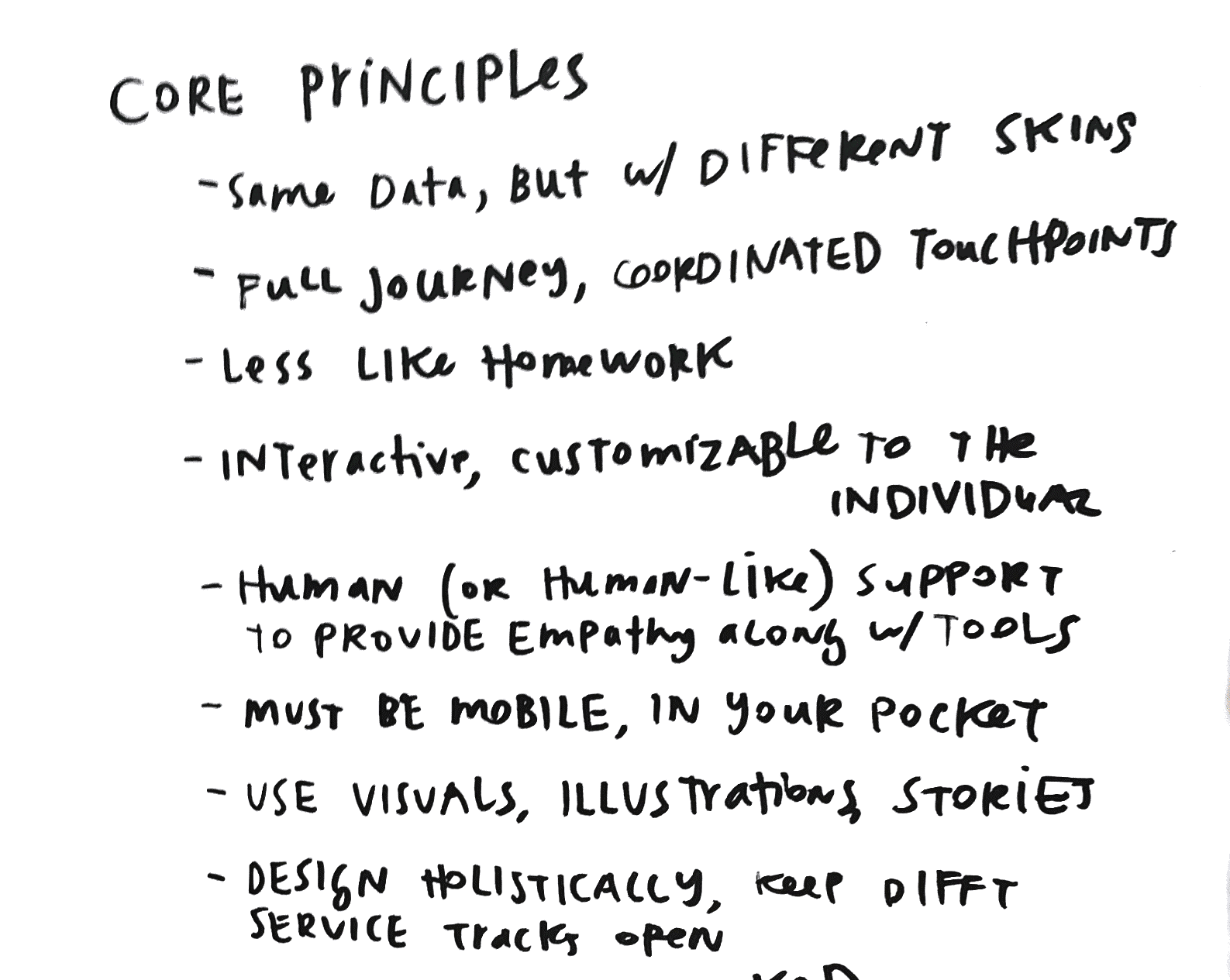 Core Principles for good legal design