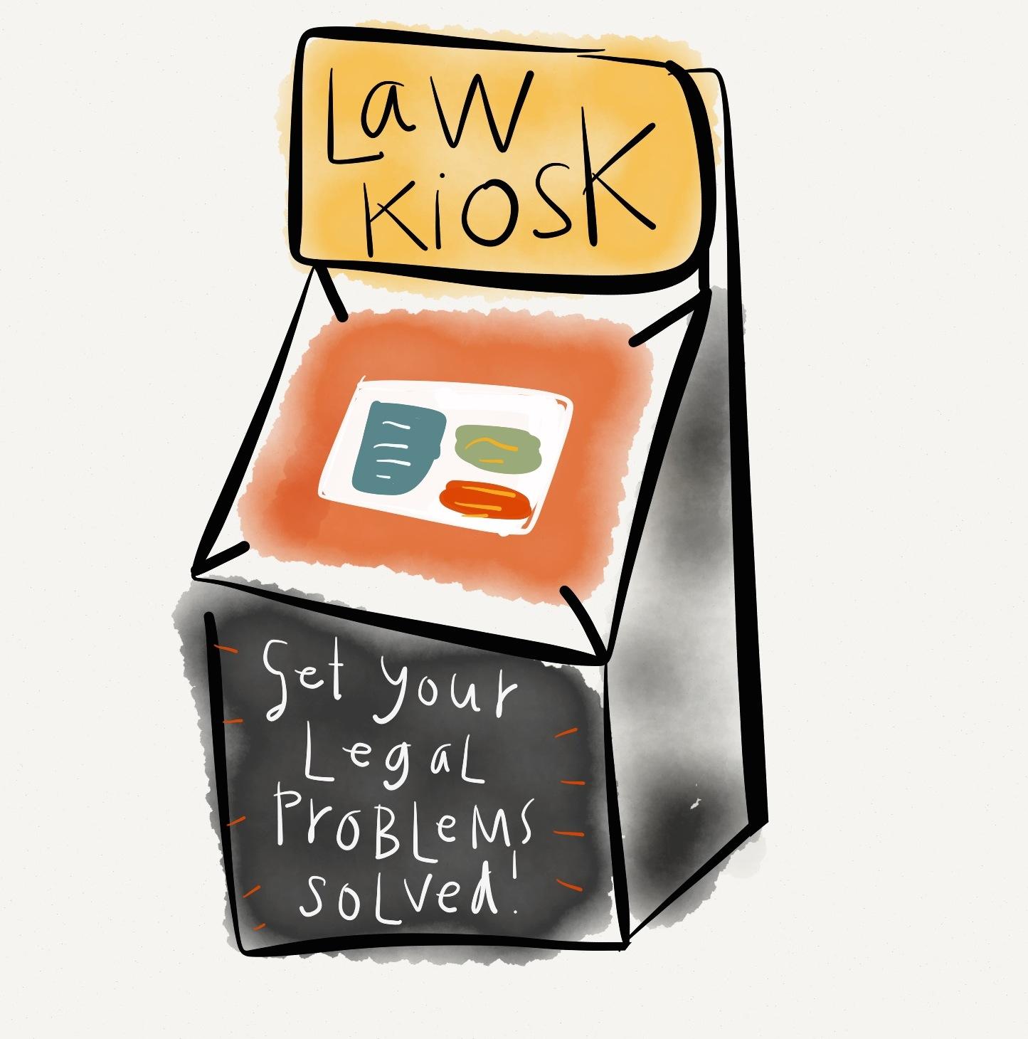 Law - legal concept - law kiosk