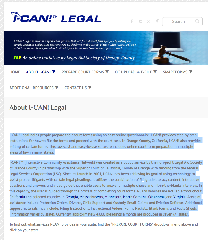 access innovation - ican legal